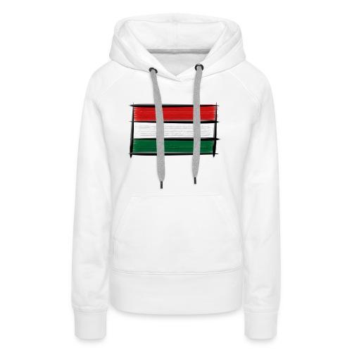 Art Flagge Ungarn - Frauen Premium Hoodie