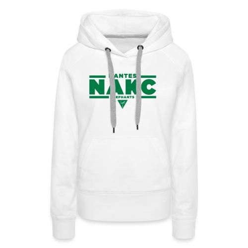 NantesElephants - Sweat-shirt à capuche Premium pour femmes