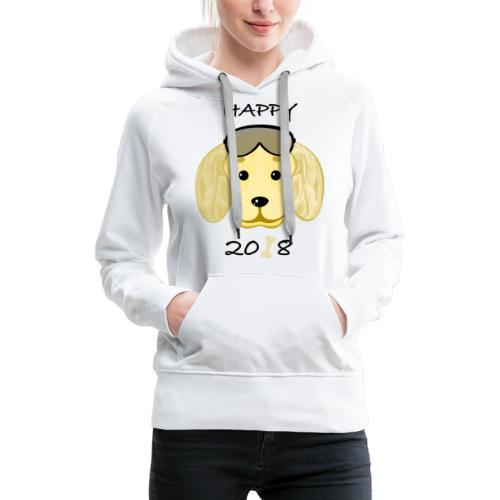 Happy dog - Frauen Premium Hoodie