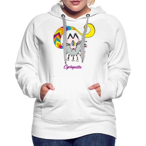 Cyclopatte - Sweat-shirt à capuche Premium pour femmes
