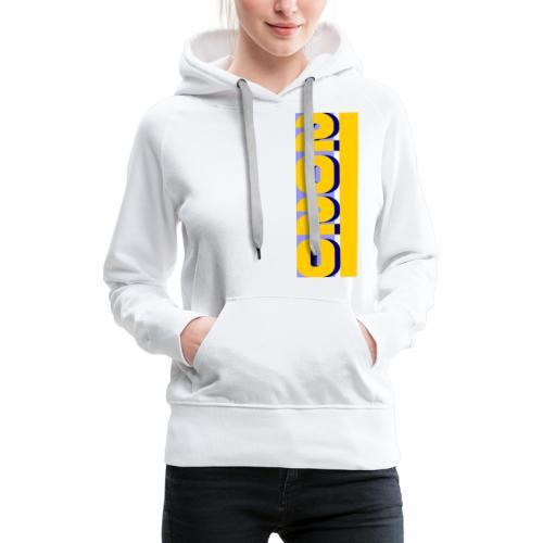 2020, vertical yellow blue - Women's Premium Hoodie