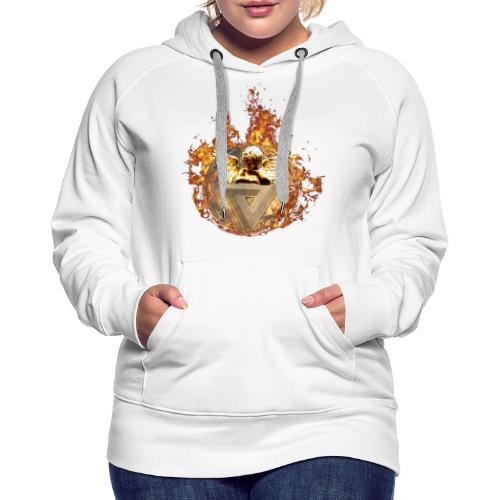 Planet + Feuerring, Feuerengel auf opt. Täuschung - Frauen Premium Hoodie