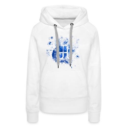 Glyphe Blau - Frauen Premium Hoodie