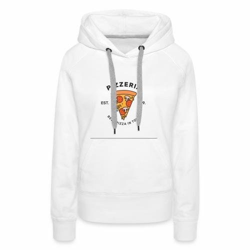 T-shirt pizza - Sweat-shirt à capuche Premium pour femmes