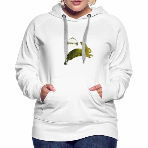 Adventure Outdoor Jäher Hase (White) - Frauen Premium Hoodie