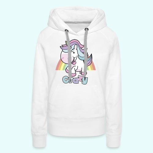 Crazy Unicorn by myLilimals - Frauen Premium Hoodie