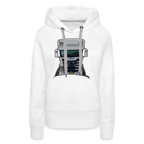 0814 S truck grill wit - Vrouwen Premium hoodie