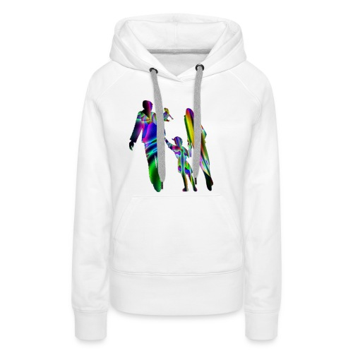 famille nombreuse GIF - Sweat-shirt à capuche Premium pour femmes