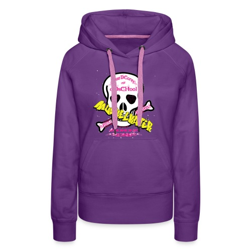skull pink gif - Frauen Premium Hoodie