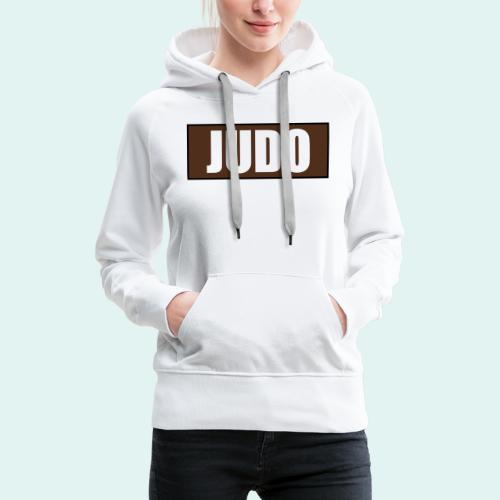 Judo Braun 1. Kyu - Frauen Premium Hoodie