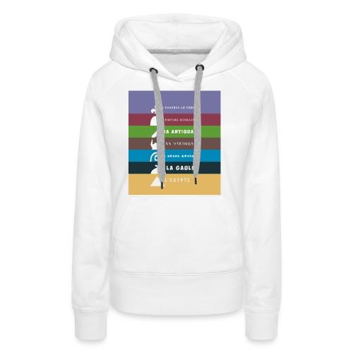 logo zone boutix - Sweat-shirt à capuche Premium pour femmes