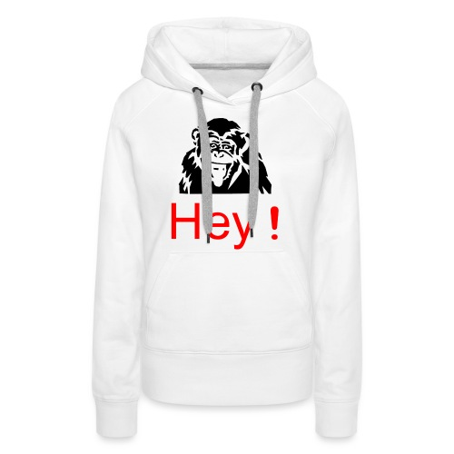 hey! monkey - Sweat-shirt à capuche Premium pour femmes