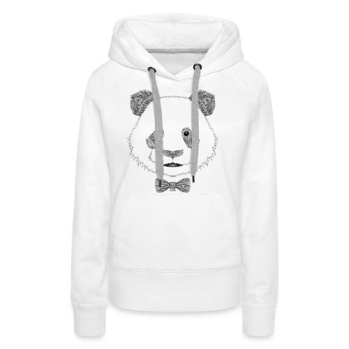 Panda tête noeud papillon - Sweat-shirt à capuche Premium pour femmes