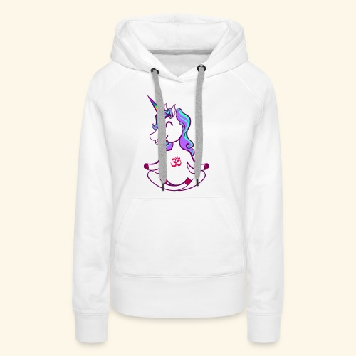 buddhistisches Meditation Einhorn T-Shirt - Frauen Premium Hoodie