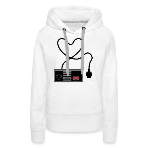 NES Controller Heart - Women's Premium Hoodie