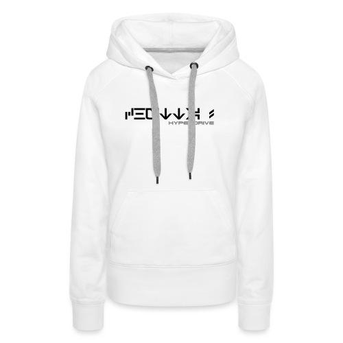 Chutta ! + logo (recto/verso) - Sweat-shirt à capuche Premium pour femmes