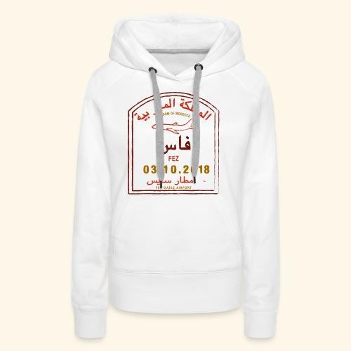 aéroport fes saiss - Sweat-shirt à capuche Premium pour femmes