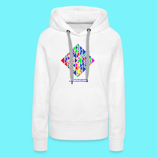 Left and right angle fish, school of Pythagoras - Women's Premium Hoodie