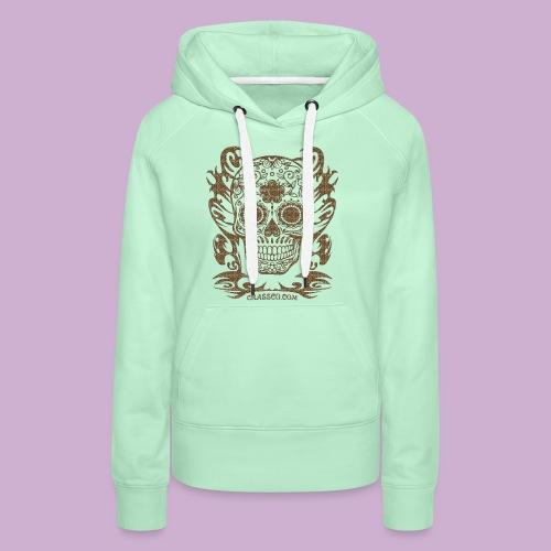 SKULL FLOWERS LEO - Frauen Premium Hoodie