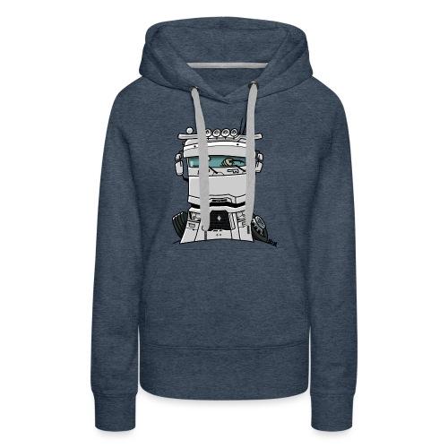 0813 R truck wit - Vrouwen Premium hoodie
