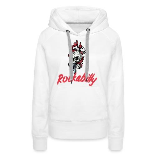 rockabilly - Sweat-shirt à capuche Premium pour femmes