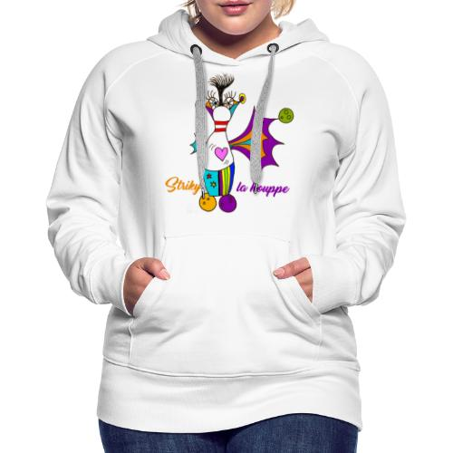 Striky la houppe - Sweat-shirt à capuche Premium pour femmes
