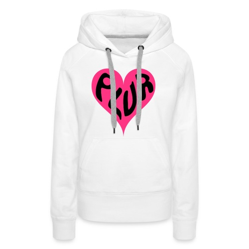 PLUR - Peace Love Unity and Respect love heart - Women's Premium Hoodie