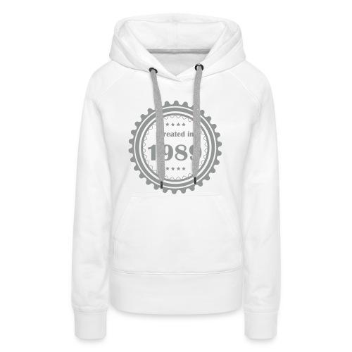 Retro Logo - Frauen Premium Hoodie