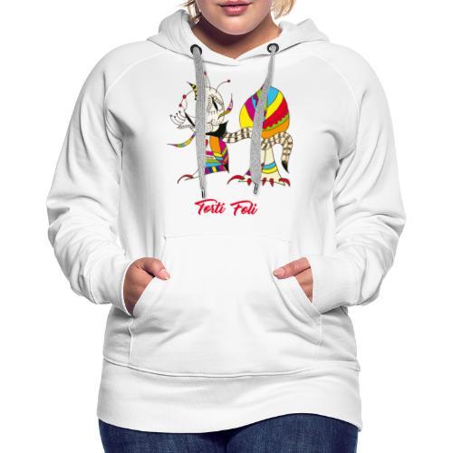 Torti Foli - Sweat-shirt à capuche Premium pour femmes