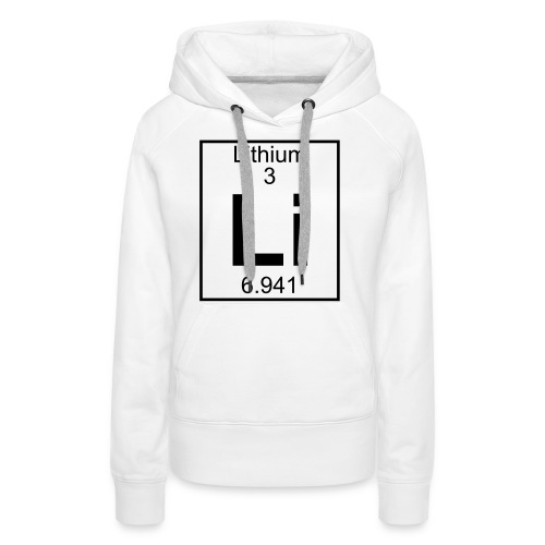 Lithium (Li) (element 3) - Women's Premium Hoodie