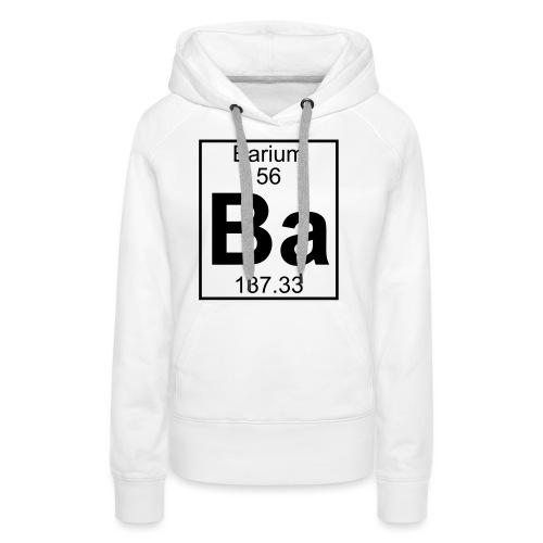 Barium (Ba) (element 56) - Women's Premium Hoodie