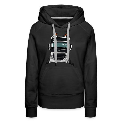 0488 V truck wit - Vrouwen Premium hoodie