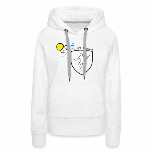 OC Gif Escrime - Sweat-shirt à capuche Premium pour femmes