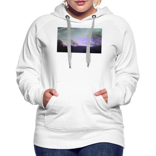 lilac sky - Dame Premium hættetrøje
