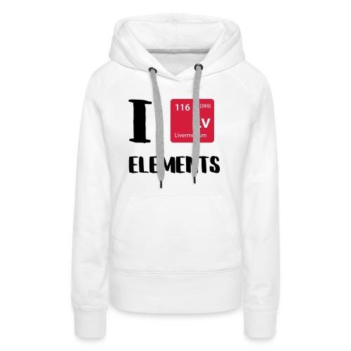 I love Elements - Frauen Premium Hoodie
