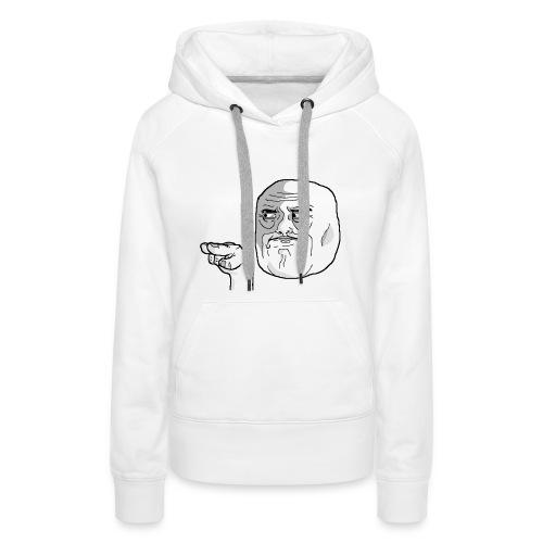 Emoticon meme I Watching You png - Vrouwen Premium hoodie