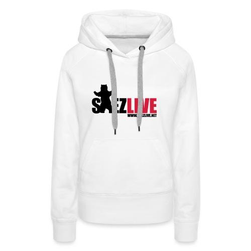 OursLive (version dark) - Sweat-shirt à capuche Premium pour femmes