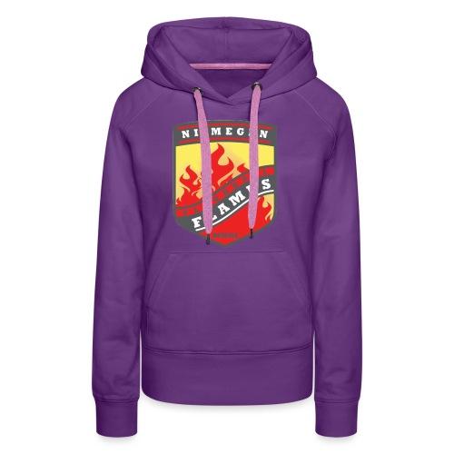 Hoodie Black - Red inner contrast - Vrouwen Premium hoodie