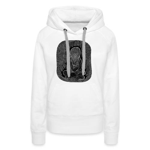 bouddha blanc - Sweat-shirt à capuche Premium pour femmes