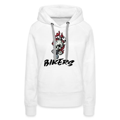 bikers 66 - Sweat-shirt à capuche Premium pour femmes