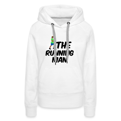 The Running Man Light Blue Short - Women's Premium Hoodie