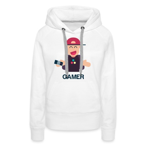 Friendly Gamer - Sweat-shirt à capuche Premium pour femmes