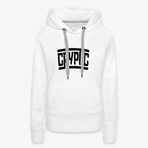 Cryptic (any colour but black) - Women's Premium Hoodie