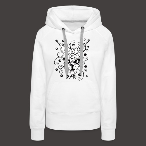 The Cat fond blanc - Sweat-shirt à capuche Premium pour femmes