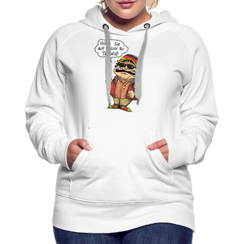Hutbürger tragen Button - Frauen Premium Hoodie
