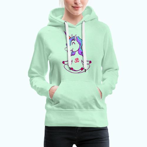 Unicorn meditation - Women's Premium Hoodie