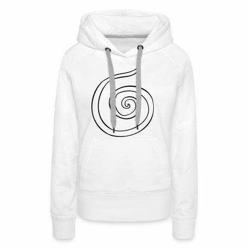 Espiral - Sudadera con capucha premium para mujer