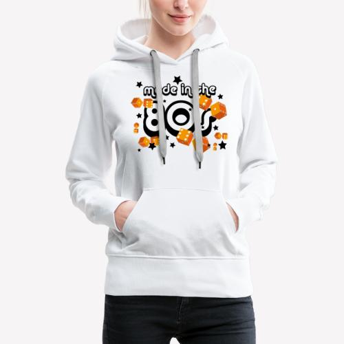 Made in the 80s – Orange - Frauen Premium Hoodie