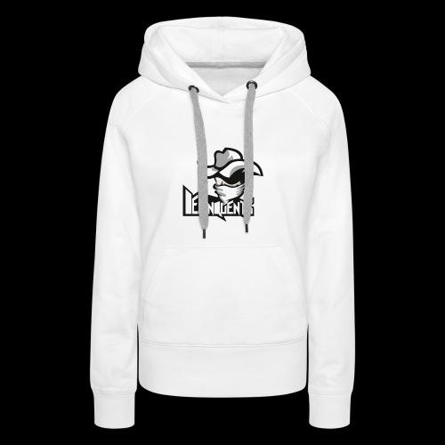 Delinquents Hvidt Design - Dame Premium hættetrøje