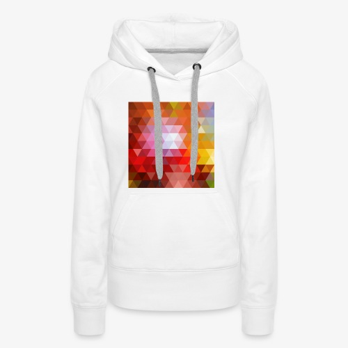 TRIFACE motif - Sweat-shirt à capuche Premium pour femmes